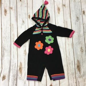 Hanna Andersson Sweater Romper Floral 70 12 Mos